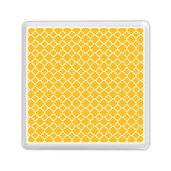 Sunny Yellow Quatrefoil Pattern Memory Card Reader (square) by Zandiepants