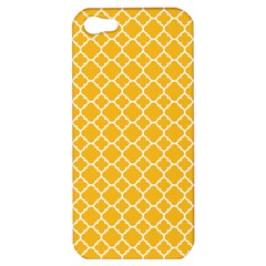 Sunny Yellow Quatrefoil Pattern Apple Iphone 5 Hardshell Case by Zandiepants