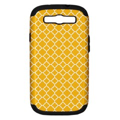 Sunny Yellow Quatrefoil Pattern Samsung Galaxy S Iii Hardshell Case (pc+silicone) by Zandiepants