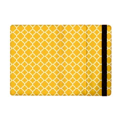 Sunny Yellow Quatrefoil Pattern Apple Ipad Mini Flip Case by Zandiepants