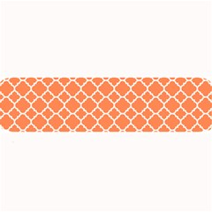 Tangerine Orange Quatrefoil Pattern Large Bar Mat by Zandiepants