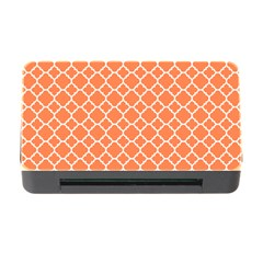 Tangerine Orange Quatrefoil Pattern Memory Card Reader With Cf by Zandiepants