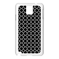 Black & White Quatrefoil Pattern Samsung Galaxy Note 3 N9005 Case (white) by Zandiepants