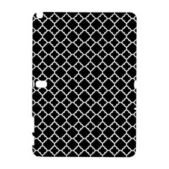 Black & White Quatrefoil Pattern Samsung Galaxy Note 10 1 (p600) Hardshell Case by Zandiepants