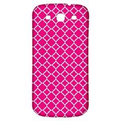 Hot Pink Quatrefoil Pattern Samsung Galaxy S3 S Iii Classic Hardshell Back Case by Zandiepants