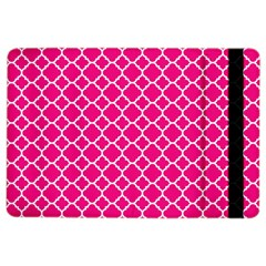 Hot Pink Quatrefoil Pattern Apple Ipad Air 2 Flip Case by Zandiepants