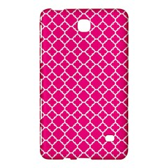 Hot Pink Quatrefoil Pattern Samsung Galaxy Tab 4 (7 ) Hardshell Case  by Zandiepants