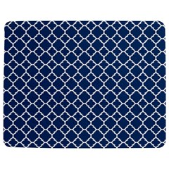 Navy Blue Quatrefoil Pattern Jigsaw Puzzle Photo Stand (rectangular) by Zandiepants