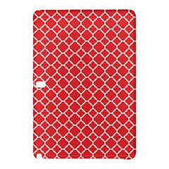 Poppy Red Quatrefoil Pattern Samsung Galaxy Tab Pro 10 1 Hardshell Case by Zandiepants