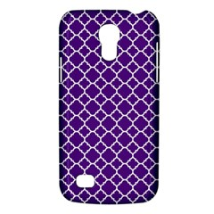 Royal Purple Quatrefoil Pattern Samsung Galaxy S4 Mini (gt I9190) Hardshell Case  by Zandiepants
