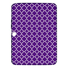 Royal Purple Quatrefoil Pattern Samsung Galaxy Tab 3 (10 1 ) P5200 Hardshell Case  by Zandiepants