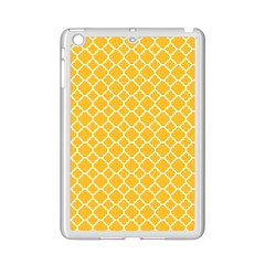 Sunny Yellow Quatrefoil Pattern Apple Ipad Mini 2 Case (white) by Zandiepants