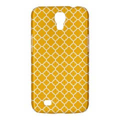Sunny Yellow Quatrefoil Pattern Samsung Galaxy Mega 6 3  I9200 Hardshell Case by Zandiepants