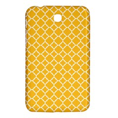 Sunny Yellow Quatrefoil Pattern Samsung Galaxy Tab 3 (7 ) P3200 Hardshell Case  by Zandiepants