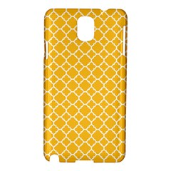 Sunny Yellow Quatrefoil Pattern Samsung Galaxy Note 3 N9005 Hardshell Case by Zandiepants