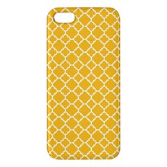 Sunny Yellow Quatrefoil Pattern Iphone 5s/ Se Premium Hardshell Case by Zandiepants
