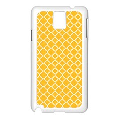 Sunny Yellow Quatrefoil Pattern Samsung Galaxy Note 3 N9005 Case (white) by Zandiepants