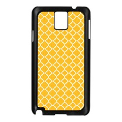 Sunny Yellow Quatrefoil Pattern Samsung Galaxy Note 3 N9005 Case (black) by Zandiepants
