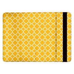 Sunny Yellow Quatrefoil Pattern Samsung Galaxy Tab Pro 12 2  Flip Case by Zandiepants