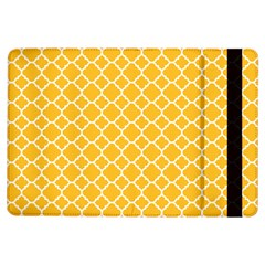 Sunny Yellow Quatrefoil Pattern Apple Ipad Air Flip Case by Zandiepants