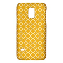 Sunny Yellow Quatrefoil Pattern Samsung Galaxy S5 Mini Hardshell Case  by Zandiepants