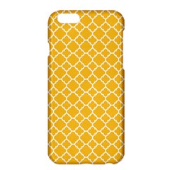 Sunny Yellow Quatrefoil Pattern Apple Iphone 6 Plus/6s Plus Hardshell Case by Zandiepants