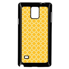 Sunny Yellow Quatrefoil Pattern Samsung Galaxy Note 4 Case (black) by Zandiepants