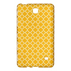 Sunny Yellow Quatrefoil Pattern Samsung Galaxy Tab 4 (8 ) Hardshell Case  by Zandiepants