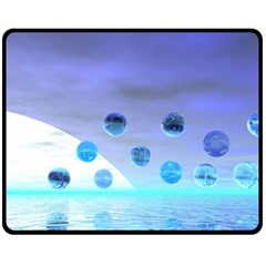 Moonlight Wonder, Abstract Journey To The Unknown Fleece Blanket (medium)  by DianeClancy