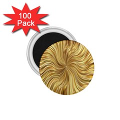 Chic Festive Elegant Gold Stripes 1 75  Magnets (100 Pack)  by yoursparklingshop