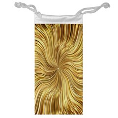 Chic Festive Elegant Gold Stripes Jewelry Bags by yoursparklingshop