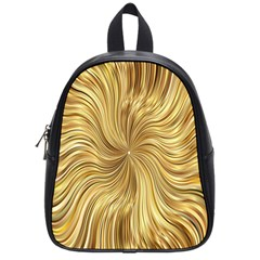 Chic Festive Elegant Gold Stripes School Bags (small)  by yoursparklingshop