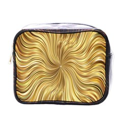 Chic Festive Elegant Gold Stripes Mini Toiletries Bags by yoursparklingshop