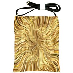 Chic Festive Elegant Gold Stripes Shoulder Sling Bags by yoursparklingshop