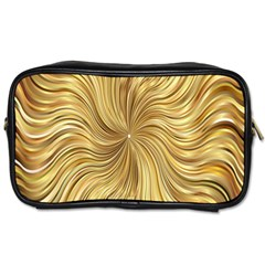 Chic Festive Elegant Gold Stripes Toiletries Bags by yoursparklingshop