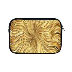 Chic Festive Elegant Gold Stripes Apple Ipad Mini Zipper Cases by yoursparklingshop