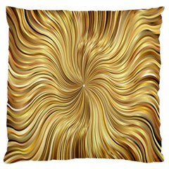 Chic Festive Elegant Gold Stripes Standard Flano Cushion Case (two Sides) by yoursparklingshop