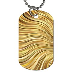 Chic Festive Gold Brown Glitter Stripes Dog Tag (one Side) by yoursparklingshop