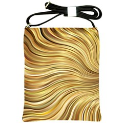 Chic Festive Gold Brown Glitter Stripes Shoulder Sling Bags by yoursparklingshop
