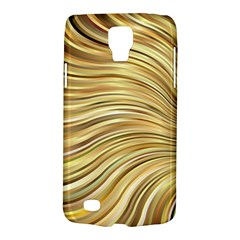 Chic Festive Gold Brown Glitter Stripes Galaxy S4 Active by yoursparklingshop