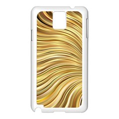 Chic Festive Gold Brown Glitter Stripes Samsung Galaxy Note 3 N9005 Case (white)