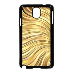 Chic Festive Gold Brown Glitter Stripes Samsung Galaxy Note 3 Neo Hardshell Case (black) by yoursparklingshop