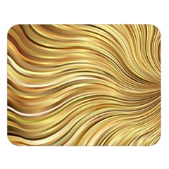 Chic Festive Gold Brown Glitter Stripes Double Sided Flano Blanket (large)
