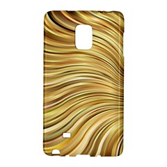 Chic Festive Gold Brown Glitter Stripes Galaxy Note Edge by yoursparklingshop
