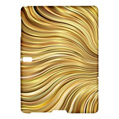 Chic Festive Gold Brown Glitter Stripes Samsung Galaxy Tab S (10 5 ) Hardshell Case  by yoursparklingshop
