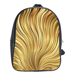 Gold Stripes Festive Flowing Flame  School Bags(large)  by yoursparklingshop