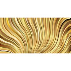 Gold Stripes Festive Flowing Flame  You Are Invited 3d Greeting Card (8x4)