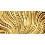 Gold Stripes Festive Flowing Flame  YOU ARE INVITED 3D Greeting Card (8x4)  Front