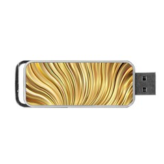 Gold Stripes Festive Flowing Flame  Portable Usb Flash (one Side) by yoursparklingshop