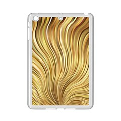 Gold Stripes Festive Flowing Flame  Ipad Mini 2 Enamel Coated Cases by yoursparklingshop